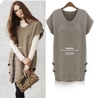 2013 autumn and winter fashion all-match sweater plus size plus size loose basic shirt plus size clothing