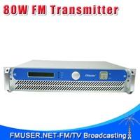 FMUSER FSN-801 80W 2UProfessional FM Broadcast Radio Transmitter 87.5-108 MHz