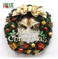 Nuoqi Christmas wreath 40 / 50cm Christmas bells bow Christmas wreath door trim ornaments