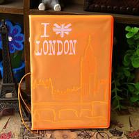 London BIG BEN fluorescent light storing ID card passport holder outbound travel packages abroad 0081502