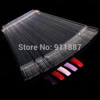 1 Set  50 Clear False Nails Nail Display Tips Polish Practice Design Tools Sticks Removable New
