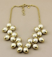 2014 Vintage Pearl Choker Necklace Women Necklace Party Jewelry Design Jewelry Min $20(can mix)