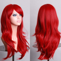 Cosplay wig pink purple wigs Synthetic  wig Long wavy blonde hair wig osplay league of legends