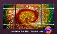 """Original Metal Wall Art Modern abstract Painting Sculpture Home Decor  """"US Tornado    """"   ,Set of 3, 24.5""""x48.5"""""""