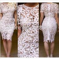 Sexy cutout bandage one-piece dress XXL