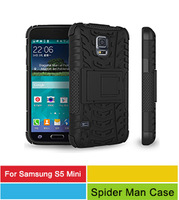 1Pcs 8 Colors Dual Layer TPU + PC Kickstand Holster Hard Rugged Rubber Cases For Samsung Galaxy S5 Mini Back Cover Skin