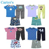 Newborn Carters Clothes Set Brand Baby Girls Boy Cotton Clothing Set Kid Short Long PP Pant+T Shirt 3pcs Suit Children Clothes
