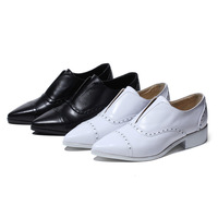 2014 new med heel genuine leather women's shoes