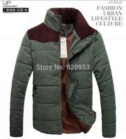 Free shipping 2014 Winter new men's down jackets cotton-padded coat Winter Slim overcoat parka