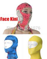 Hot Free shipping Facekini swim cap cap face-kini bikini face guard head cap sunblock swimming Sports outdoors Uv protection