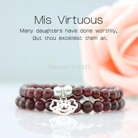 Garnet bracelet female with lock bracelet lovers bracelet honey bracelet