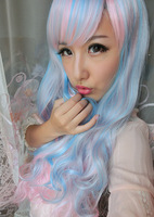 Fashion Cheap Synthetic hair  wig curly wigs braided  wigs league of legends cosplay wavy wigs