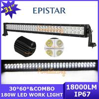 60x3W 4x4 AWD Epistar LED off-road Work Light bar 180W ATV 18000lm Spot/Flood Beam 4WD 12V/24V Wagon Van SUV car