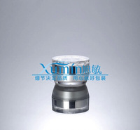 FWA 30G pearlescent  white acrylic cream JAR with flower-shape cover ,cream jar,Cosmetic Jar,Cosmetic Packaging
