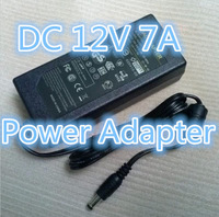 Free Shipping DC 12V 7A Power Adapter Supply Charger For LED Strips Light AC 100-240V