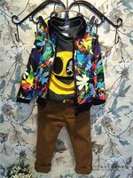 (5 pcs/lot)wholesale children's clothing wholesale boys and girls fashion leisure jacket, light A8801 A8789