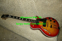 Wholesale Guitars Newest Cherry Burst Hollow Jazz Guitar Top Muscal instruments