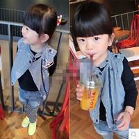 (5 pcs/lot)wholesale 2014 autumn new children's clothing boys and girls wild simple leisure vest