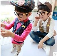 (5 pcs/lot)wholesale children's clothing wholesale boy dot vest vest and a small Y911