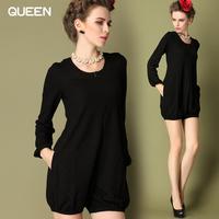 New Fashion 2014 Elegant Celebrity  Short Sleeve Knee-length Women Dresses  slim waist formal plus size summer women dresses