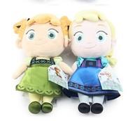 2pcs/lot 30cm Frozen Childhood Princess Elsa Anna Plush Toys Baby Soft Dolls Girls Kids Christams Birthday Gifts Free Shipping
