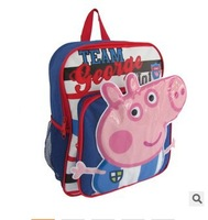 2014 hot sale Peppa pig children school bags, for girls boys children cartoon bag free shipping