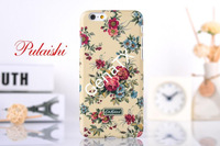 For Apple iPhone 6 6G 6TH iPhone6 4.7 Inch Case Floral Rose Pattern Luminous Hard Plastic PC Phone Back Case Cover