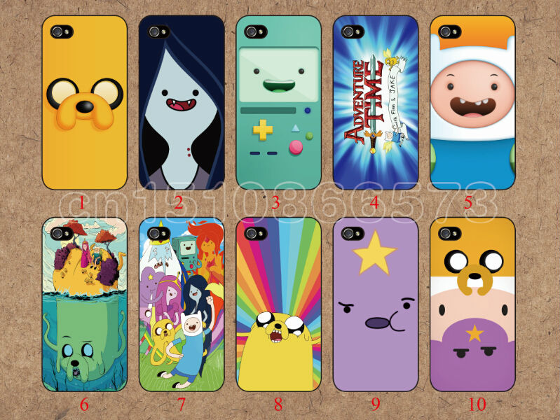 new skin Adventure Time 10pcs/Lot PC hard Lovely cover case for iPhone 5 5s Apple 10 piece free shipping,cell phones(China (Mainland))