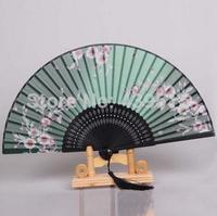 hot sale Japan style folding fan bamboo silk paint hand fan