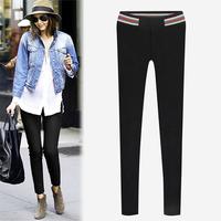 Women Winter Trousers New Fashion Elastic Waist Slim Bodycon Pencil Pants Good Quality Casual Leggings Capris Plus Size 1031