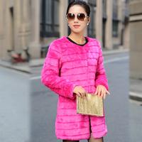 Free shipping 2014 new winter coat women Faux fur coat  fur long design female outerwear