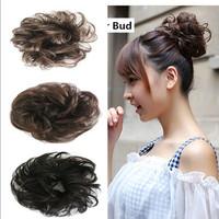 New Arrival Hotsale Free Style Hair Curler Wig Puff Bud Elastic Hairbands Hair Ties/ Women Hair accessories