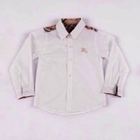 Retail  Brand  2014  New  fashion  spring/autumn  children's  shirt  two  colors  long  sleeve  turn-down  collar  boy's  shirt
