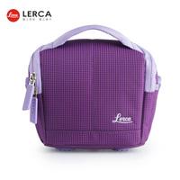 LERCA Violet Women Digital Camera Shoulder Handle Bag Case for Canon Nikon Olympus Fujifilm Leica Pentax Panasonic Cameras