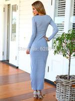 2014 Free Shipping Fashion V-neck folds floucing tight maix dress Party Dress