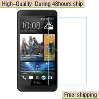High Quality Scratch Resist Tempered Glass Screen Protector For HTC One M7 Free Shipping DHL HKPAM CPAM