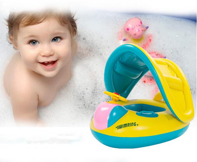 Hot vente gonflable tout petits b b bou e float seat for Bebe dans piscine
