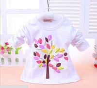 children clothing t shirts girl Tees Leaves baby t shirt 4pcs/lot