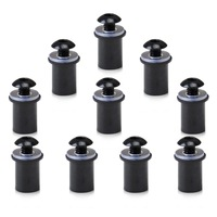 Free shipping & Tracking # 10 X M5 5mm Windscreen Bolts Kit Motorcycle Windshield Screw Mounting Nuts  MST004