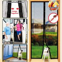 2014 Hot Sale Free Screen Door Curtain Magic Mesh Hands Net Magnetic Anti Mosquito Bug Divider Curtain 1Pcs/Lot #ZH044