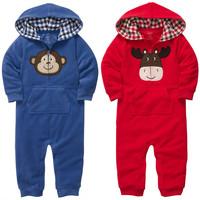 Carter's baby clothes newborn baby clothes cartoon animals fleece bebe clothing baby rompers roupas de bebe baby clothing