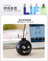 mini mobile phone Mp3 computer laptop speaker small black bomb speakers loudspeaker 50pcs/lot