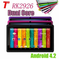 Hot sale tablet 7 RK2926 Q88  Android 4.2 Operating system  800x480 Resolution 512MB 4GB Capacitive screen