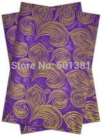 1set/lot, African Sego Headtie Gele & Ipele 2pcs in1bag, 1bag/lot, D/N 0071 Purple