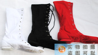 Free shopping child and adult high canvas shoes long-barreled high dance shoes modern dance shoes jazz shoes jazz boots
