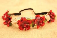 free shipping flower hair accessories flower hairband wholesale wedding seaside beach Bohemian braid flower hair band hair bands