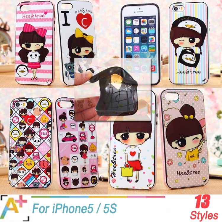 Brand Case For iPhone 5 5S MK hello kitty pink girl kids women silicone cases capa para capinha de celular celulares for iphon 5(China (Mainland))