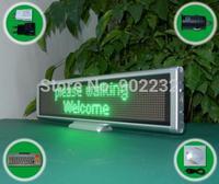 Free Ship/SC1696G/Led Message Board/desk screen/ USB programmable sign/GREEN Color/Scrolling sign/smd  0603/digital  table led