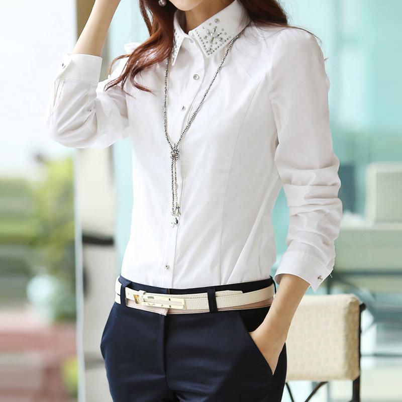 Блузка Рубашка Белая Купить