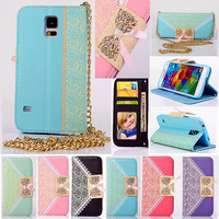 1pcs Bow Lace Fashion Wallet Leather TPU with Stand Case For Samsung galaxy S5 S4 S3 S5MINI S4 MINI S3 MINI NOTE 3